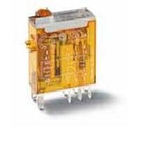 Mini relè industriale terminali a innesto bobina 12V AC 2 contatti 8A Finder 46528012