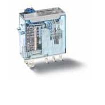 Mini relè industriale terminali a innesto bobina 12V DC 2 contatti 8A Finder 46529012