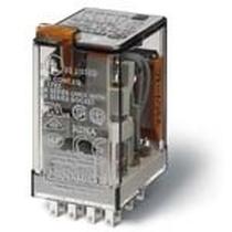 Mini relè industriale terminali faston bobina 12V AC 2 contatti 10A Finder 55328012