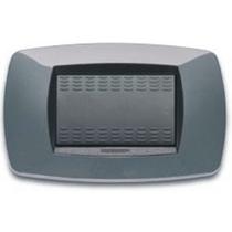 Placca Master Modo in tecnopolimero Grigio metallizzato 3 - 4- 7 posti