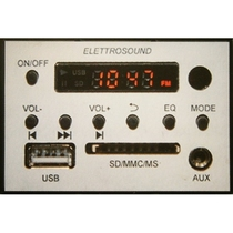 Centrale Multiroom stereo 10+10W da incasso per 503 con telecomando
