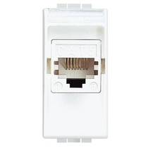 Presa RJ45 Categoria 5E UTP 1 Posto Serie Civili Bticino LivingLight  N4261AT5