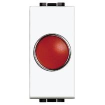 Portalampada Con Diffusore Rosso 1 Posto Serie Civili Bticino LivingLight N4371R