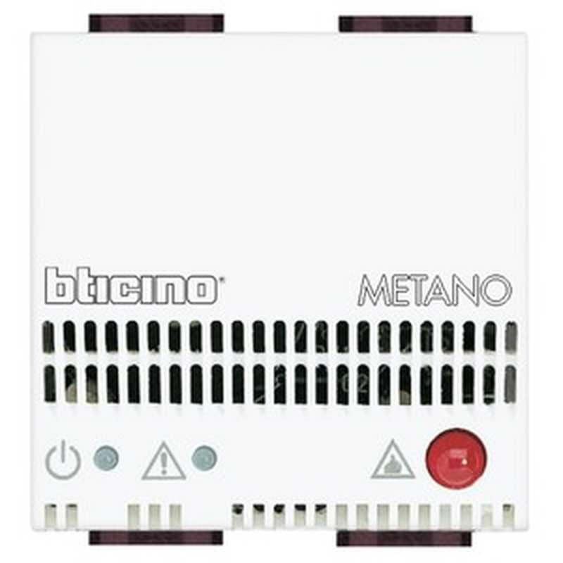 Rilevatore gas metano LL Bticino Light 12Vdc/dc N4511/12