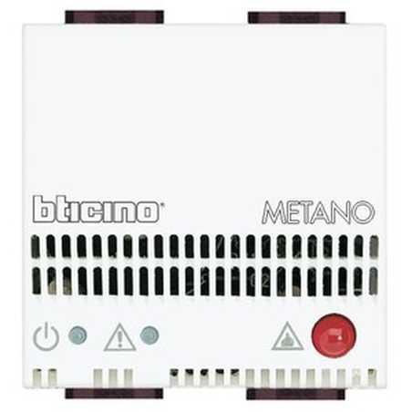 Rivelatore Gas Metano 12V ac/dc 2 Posti Serie Civili Bticino LivingLight N4511/12
