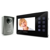 """KIT VIDEOCITOFONO LCD ULTRAPIATTO 7"""" A COLORI 4 FILI BIANCO AVIDSEN"""