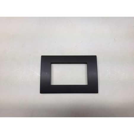 Placca compatibile ave in tecnopolimero sistema 45 colore grigio scuro - Interruttori ave sistema 45 ...