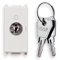Interruttore a chiave Vimar Plana 2P 16AX  bianco 14083