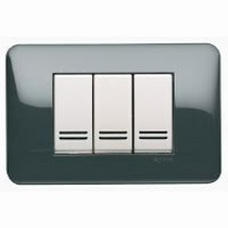 Placca in ABS scatola rettangolare 3 Moduli antracite Legrand Cross 680593