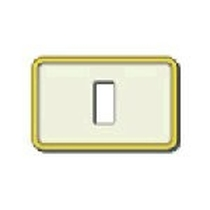Placca Vimar 8000 1 modulo resina scatto avorio-oro 08605.i.21