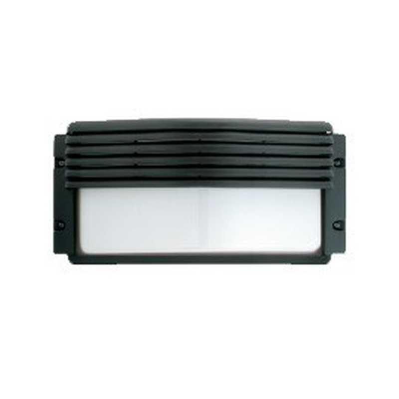 Plafoniera da esterno nera e27 max 60w kit visiera - Altoparlanti da esterno ...