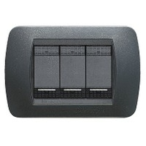 PLACCA TECNOPOLIMERO BTICINO LIVING INTERNATIONAL L4803PB BIANCA