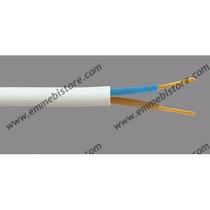 Cavo Gommato Bianco 2x1 MMQ - 1MT