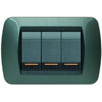 PLACCA METALLO BTICINO LIVING INTERNATIONAL L4803AC ACCIAO SCURO