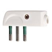 Spina 2P+T 10A a pipa bianco Vimar 00206.B