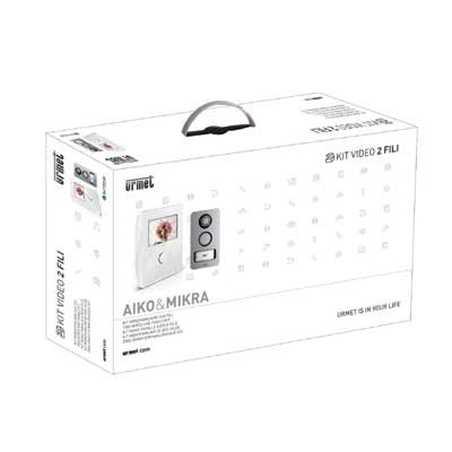 Kit monofamiliare 2voice con pulsantiera mikra e monitor for Videocitofono urmet domus schema