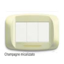 """Placca in metallo """"Banquise"""" Champagne micalizzato"""