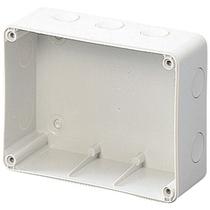 Scatola a parete per prese interbloccate con base portafusibile Orizontali 16 o 32A Gewiss GW66677