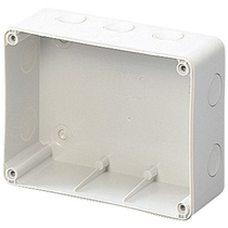 Scatola a parete per prese interbloccate senza base portafusibile Orizontali 16 o 32A Gewiss GW66676