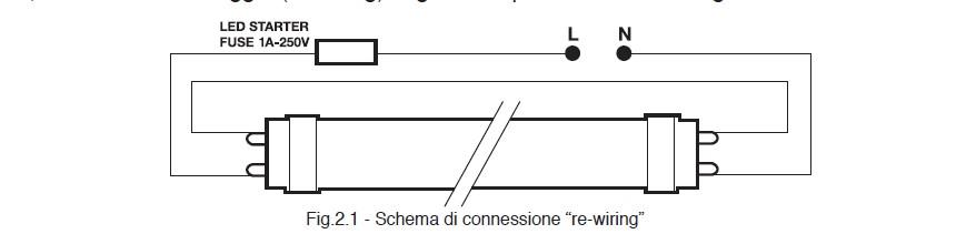 Schema Collegamento Neon Circolare : Tubi a led t guida alla scelta e all installazione