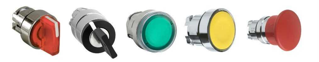 Selettori, Pulsanti e Indicatori Luminosi