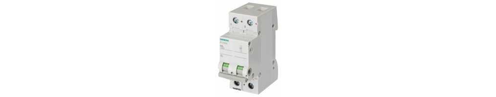 Interruttori Siemens unipolari piu' neutro 2 Moduli da 4,5 kA