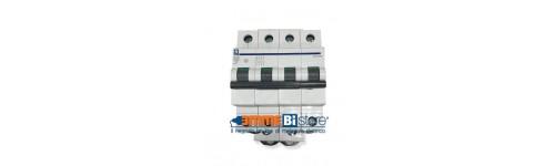 Magnetotermici e sezionatori 4 poli 4 moduli