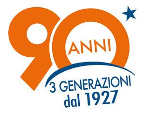 Logo dei 90 Anni Vittorino Bassi - Emmebistore Materiale Elettrico