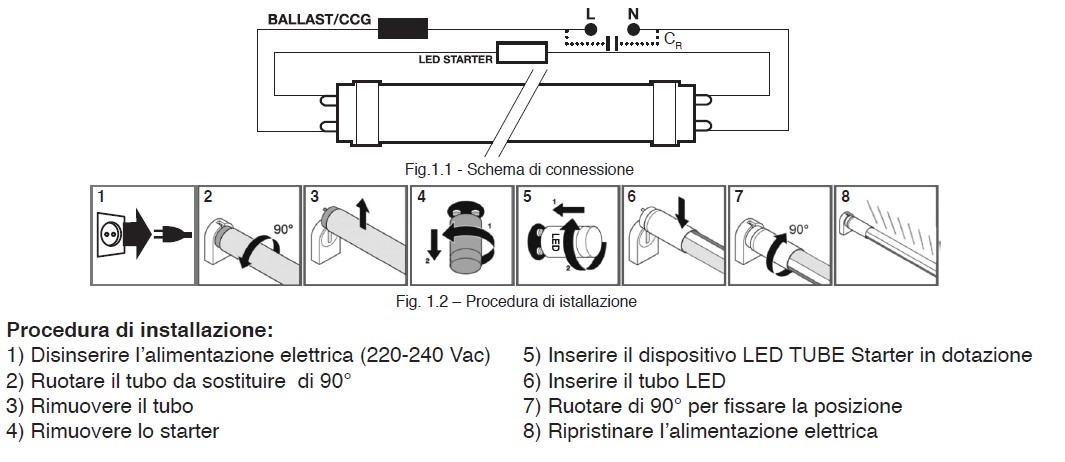 Schema Elettrico Lampadario Doppia Accensione : Schema elettrico per accensione led
